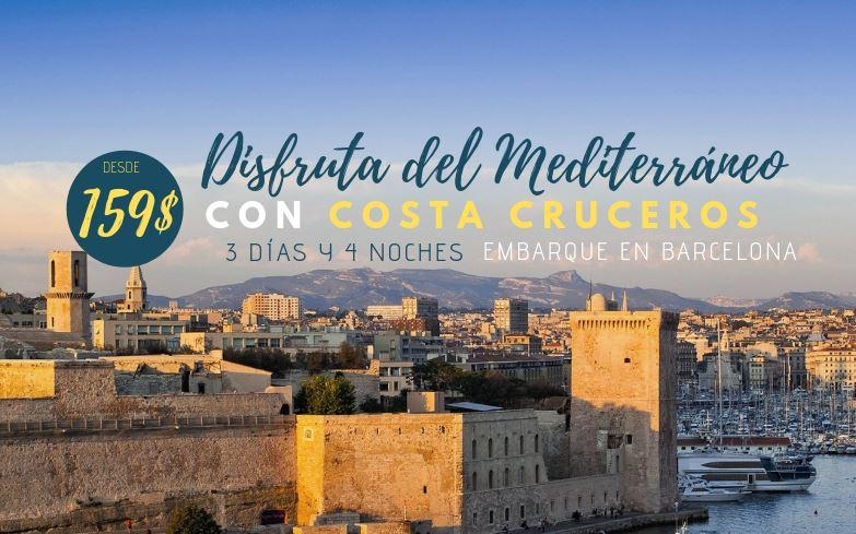 El Mediterráneo desde 159$ con Costa Cruceros